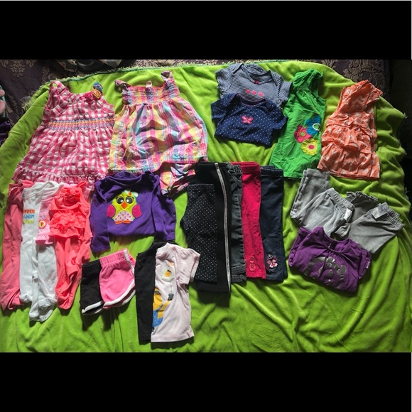 12 month girl clothes (you get it all)